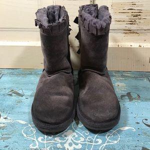 UGG Plum Bailey Bow Ruffles Boots